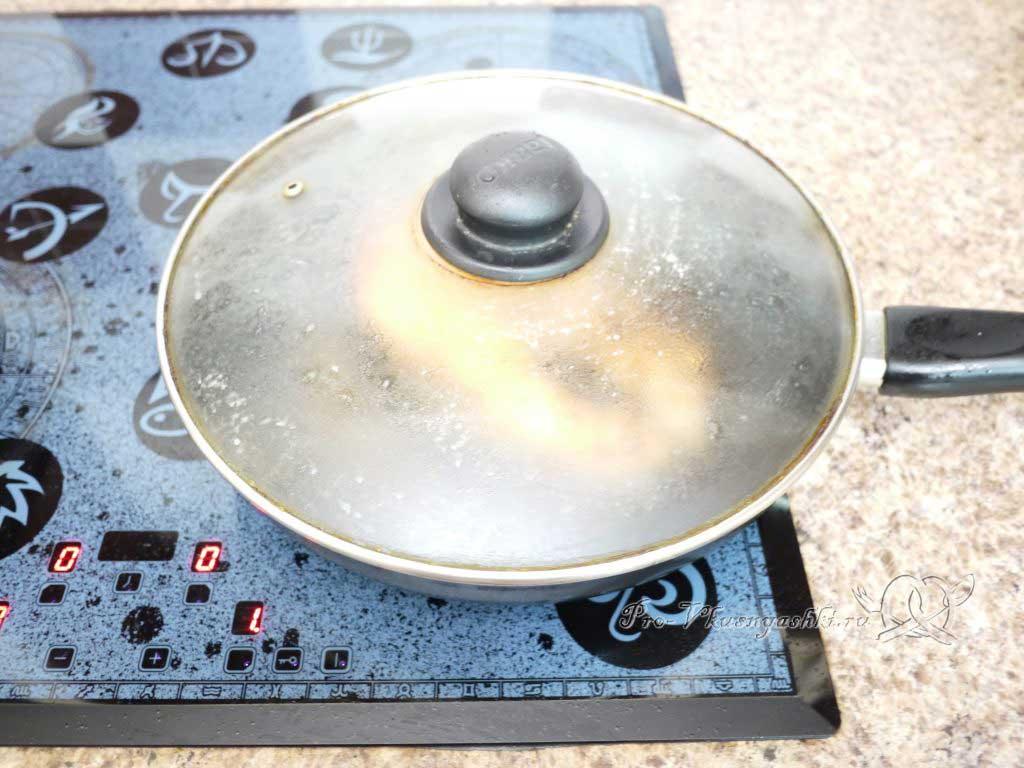 Стейк из семги жаренный на сковороде - томим