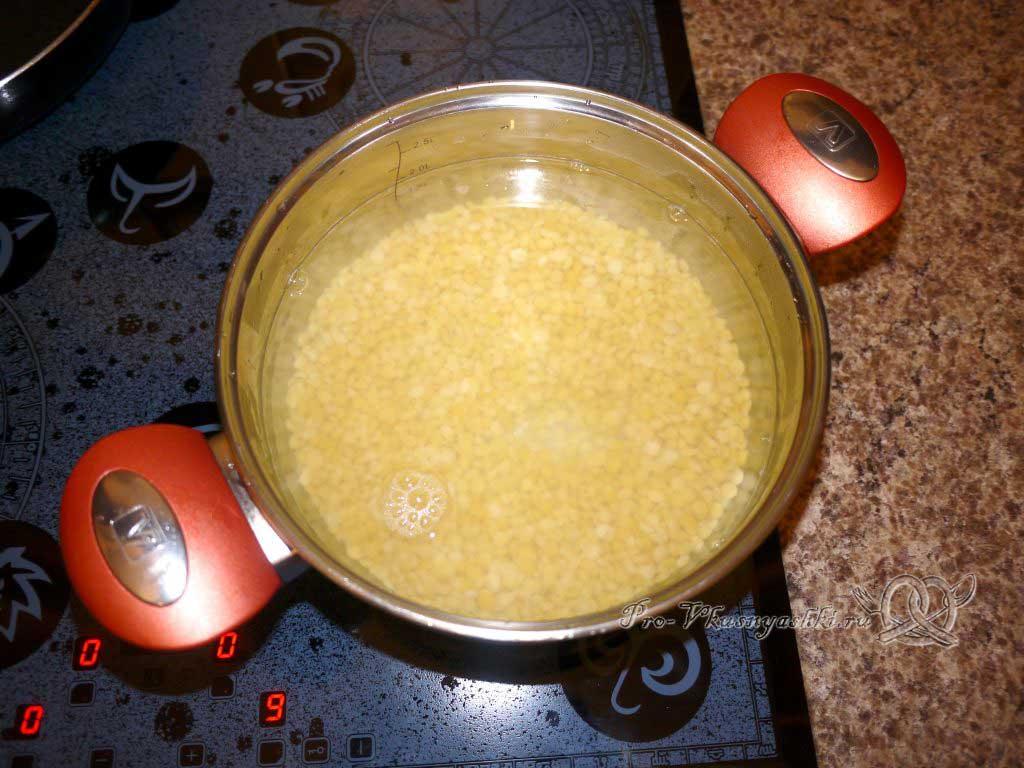 Постный гороховый суп с сухариками - варим горох