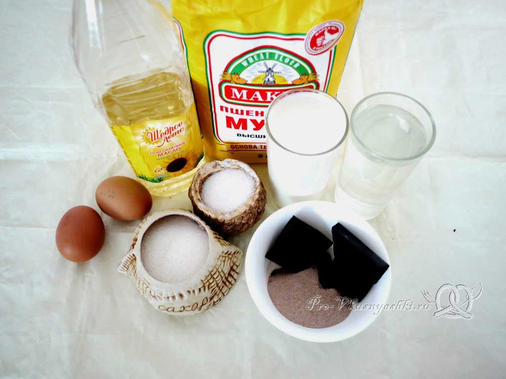 Шоколадные блины на молоке - ингредиенты
