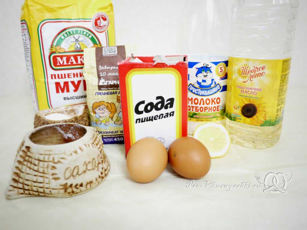 Гречневые блины на молоке - ингредиенты