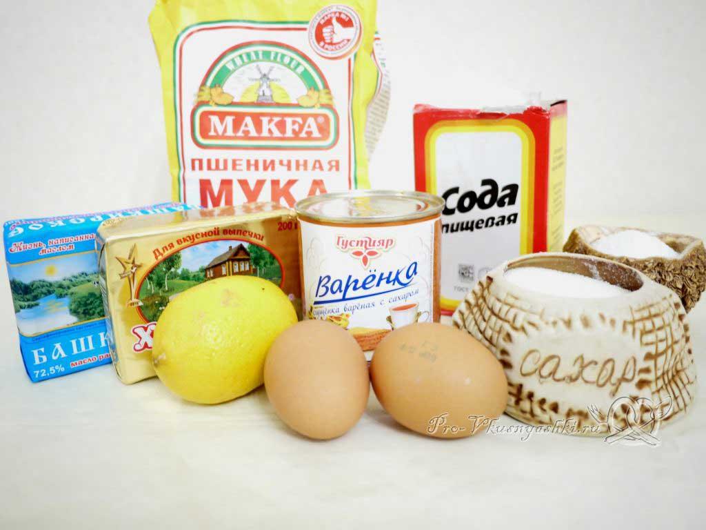 Торт Муравейник классический со сгущенкой - ингредиенты