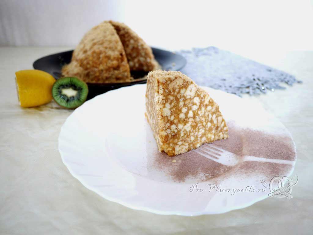 Торт Муравейник классический со сгущенкой - подача