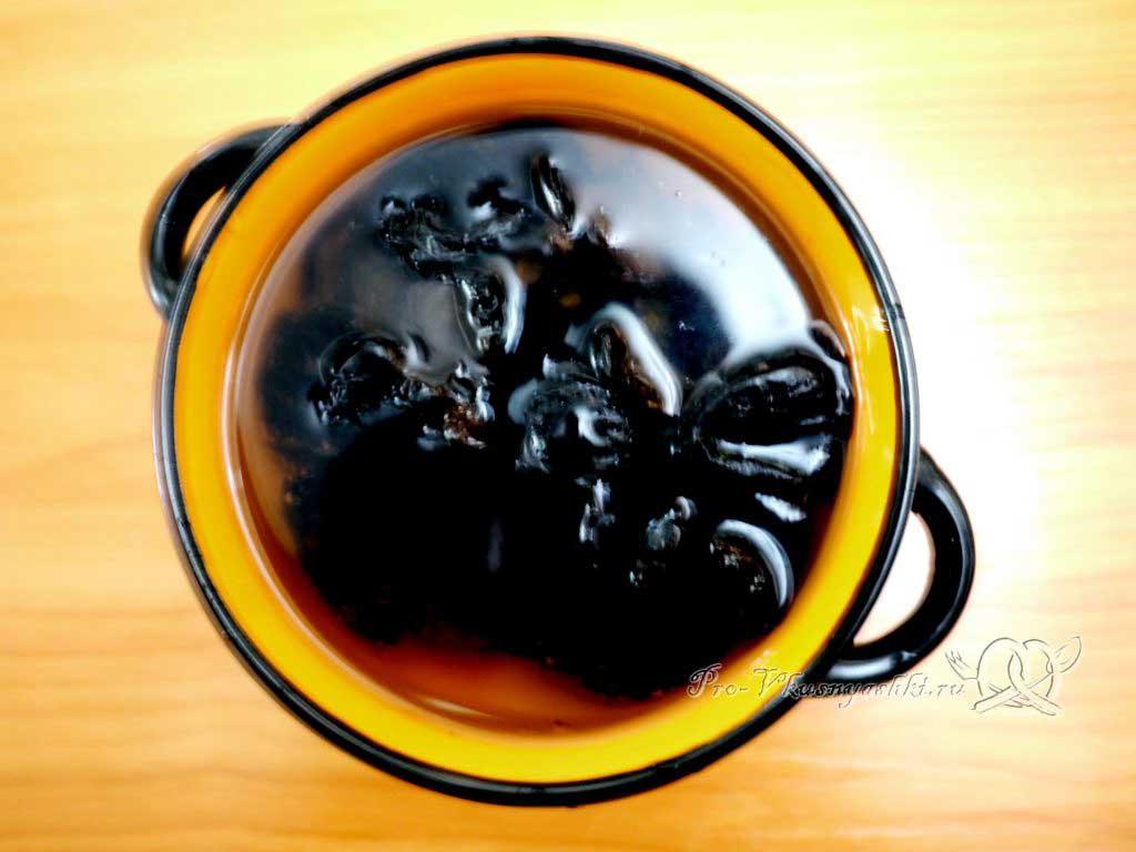 Говядина с черносливом в духовке в фольге - запариваем чернослив