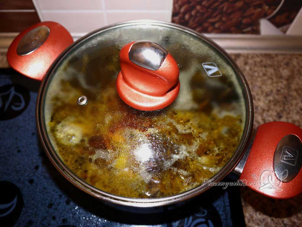 Постный грибной суп из сушеных грибов с перловкой - варим суп