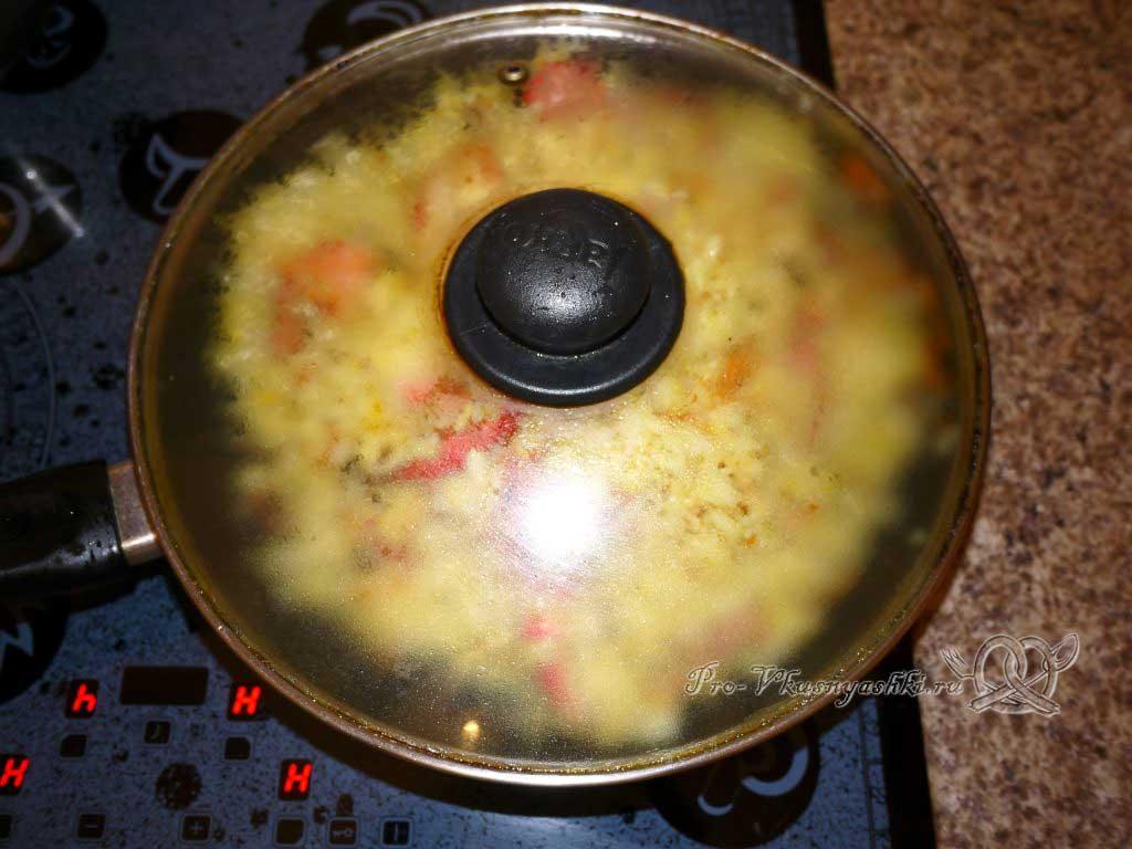 Рис с морепродуктами (Паэлья) - томим паэлью