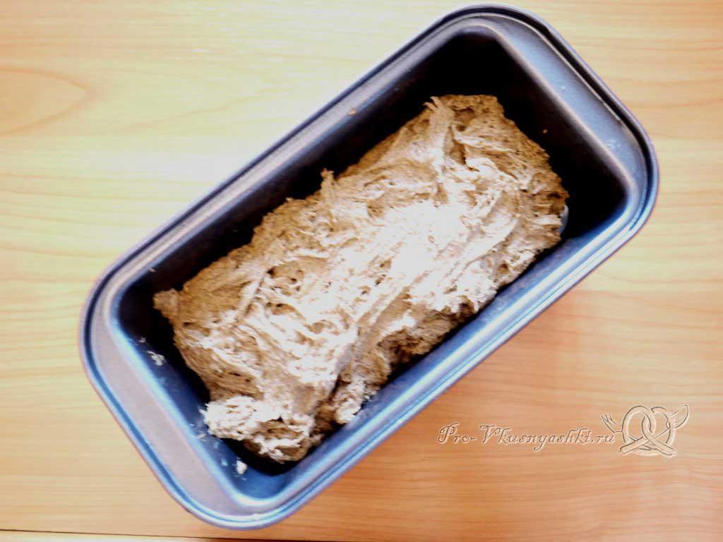 Бородинский хлеб в духовке - выкладываем в форму