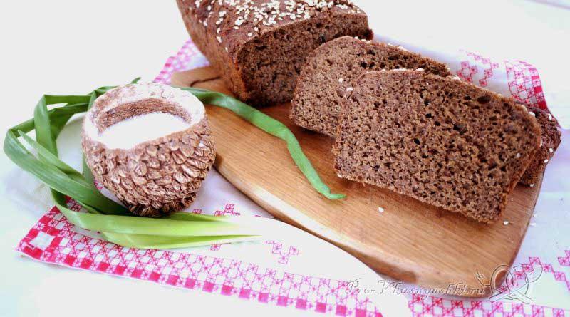 Бородинский хлеб в духовке - подача