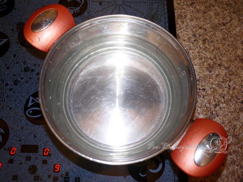 Вареная капуста брокколи - кипятим воду