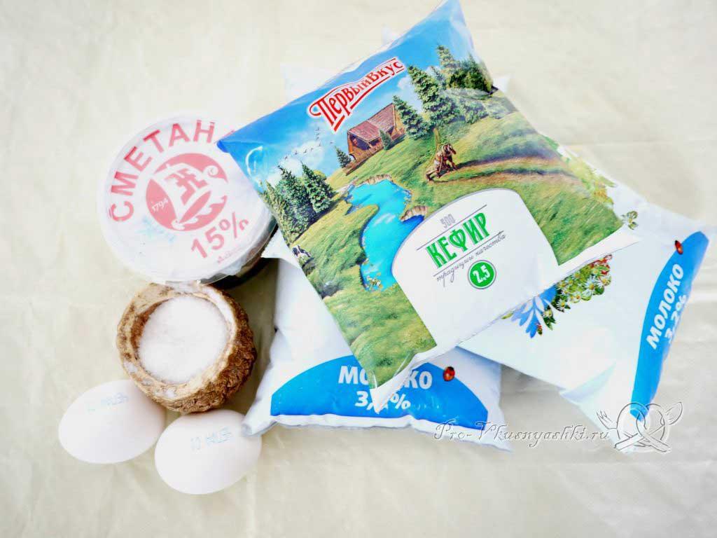 Адыгейский сыр в домашних условиях - ингредиенты
