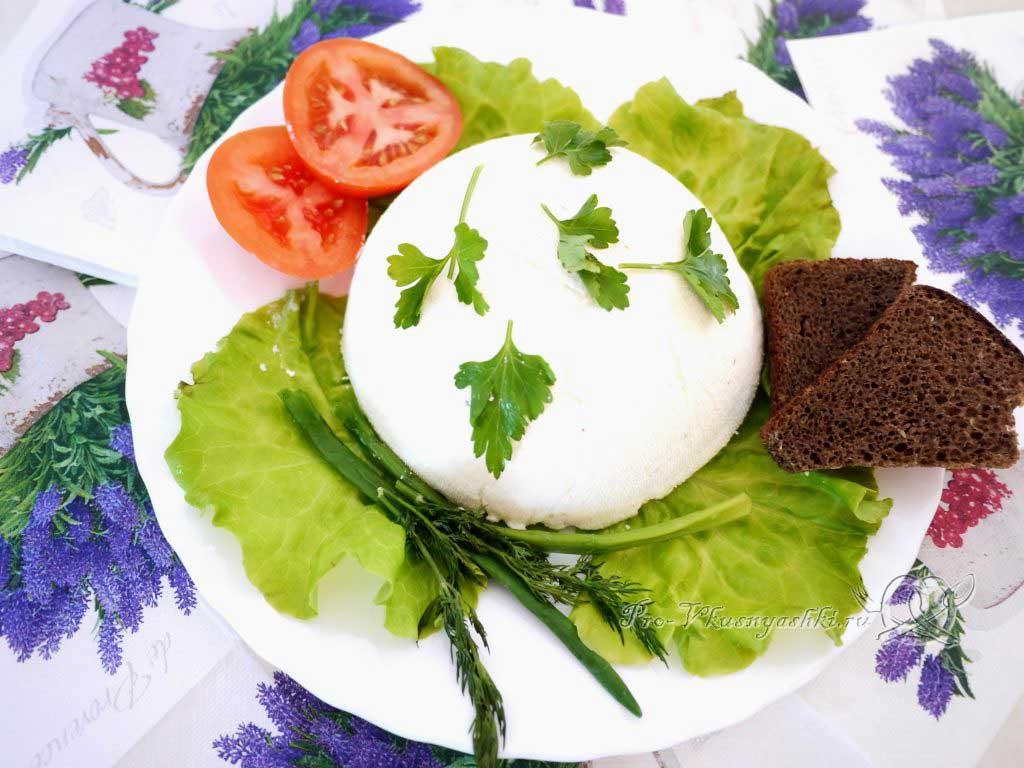 Адыгейский сыр в домашних условиях - готовый сыр