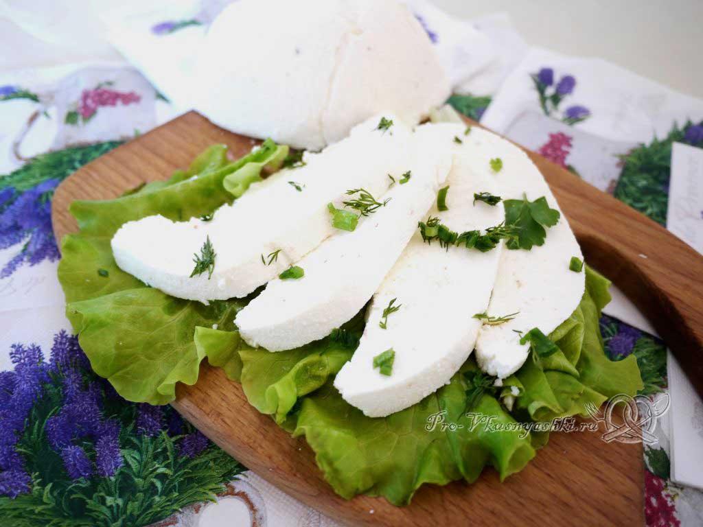 Адыгейский сыр в домашних условиях - подача