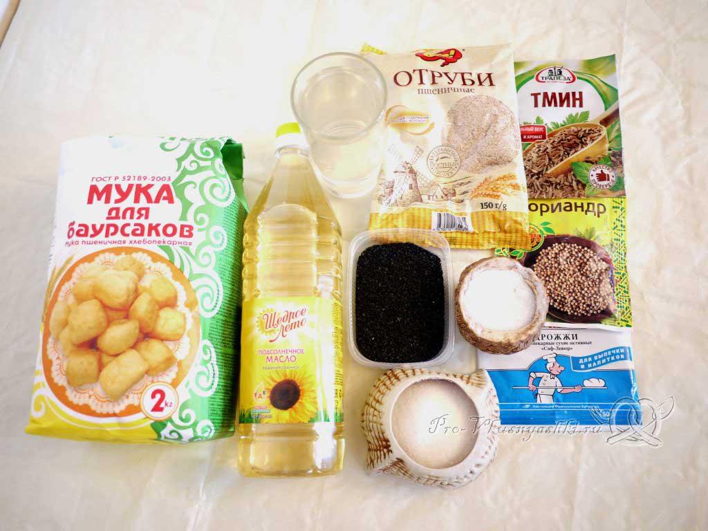 Постный пшеничный хлеб с отрубями - ингредиенты