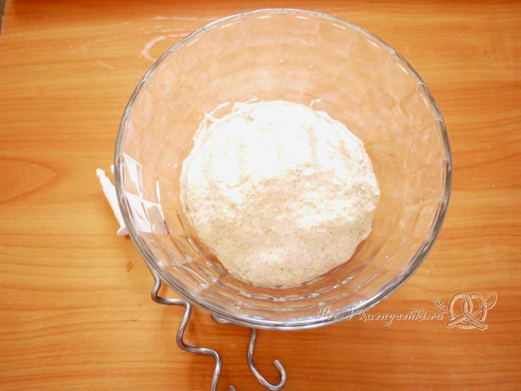 Постный пшеничный хлеб с отрубями - тесто