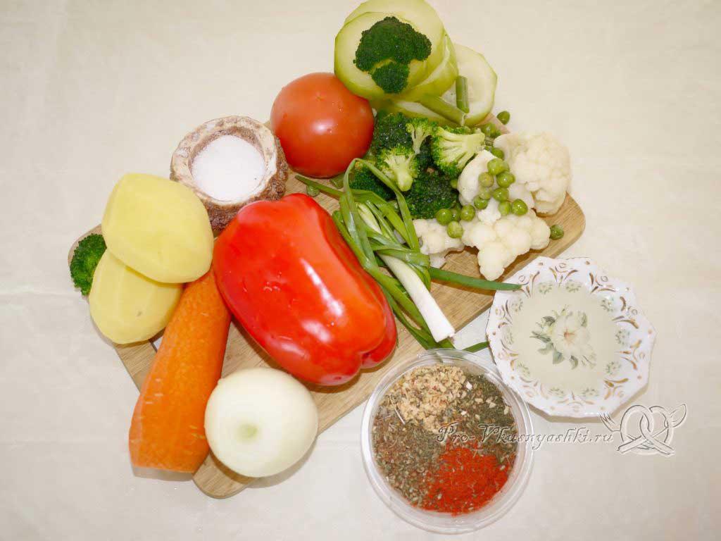 Постный овощной суп - ингредиенты