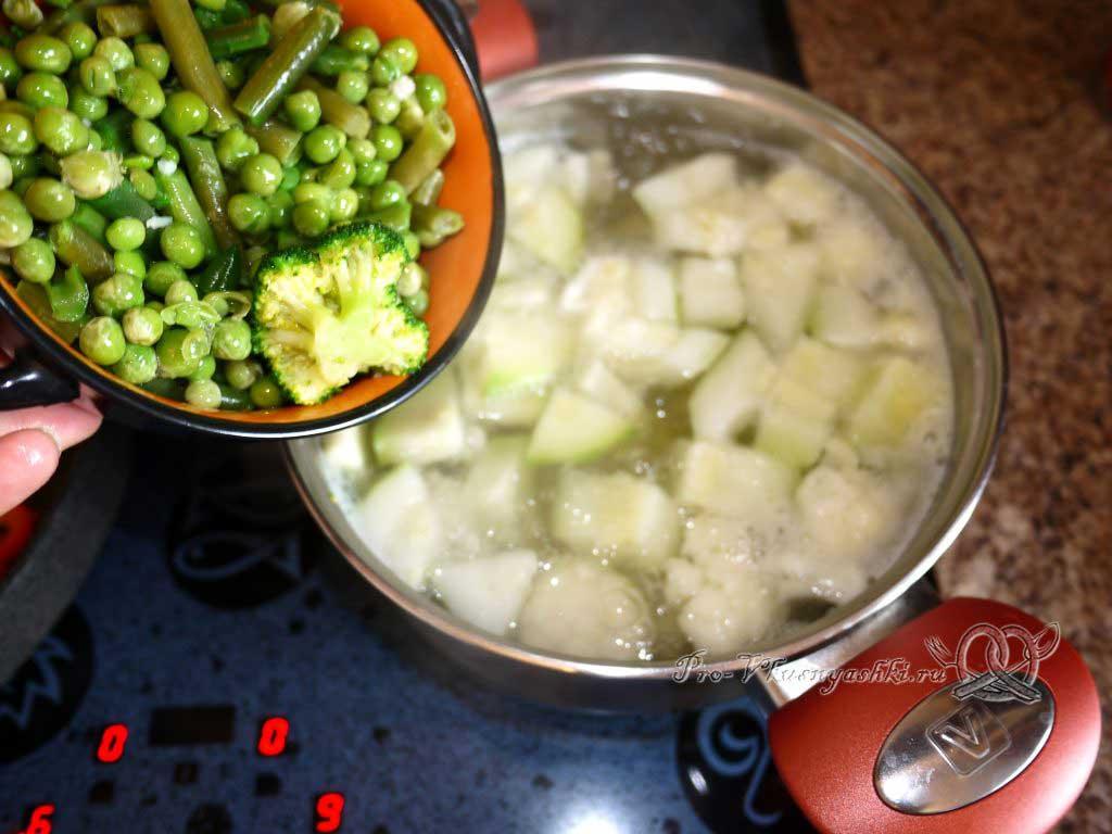 Постный овощной суп - добавляем фасоль