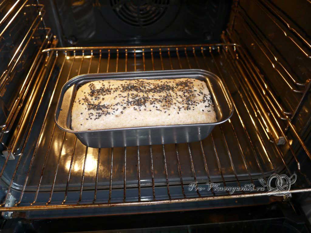 Постный пшеничный хлеб с отрубями - ставим в духовку