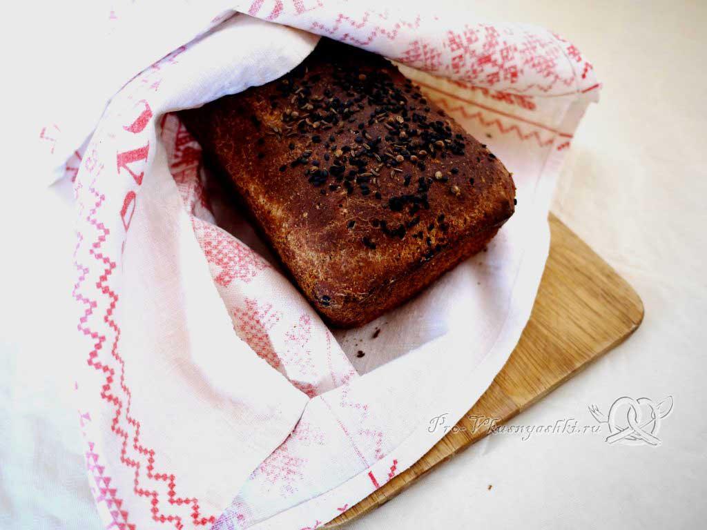 Постный пшеничный хлеб с отрубями - остужаем