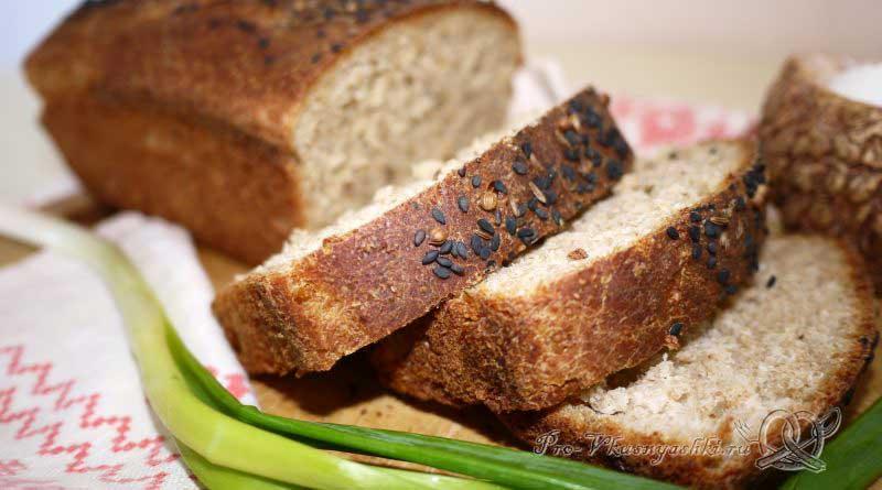Постный пшеничный хлеб с отрубями - подача