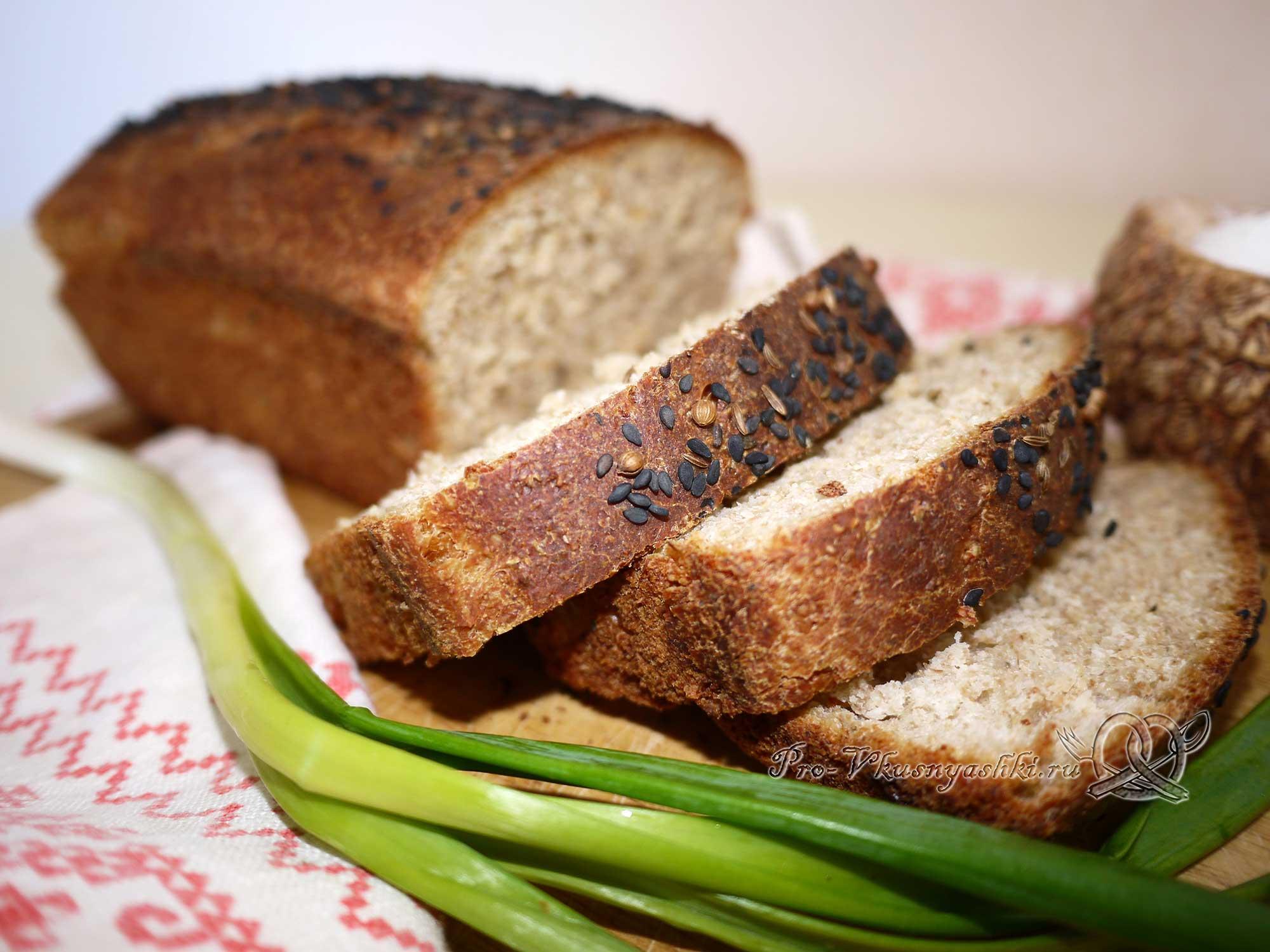 Постный пшеничный хлеб с отрубями (пошаговый рецепт с фото)