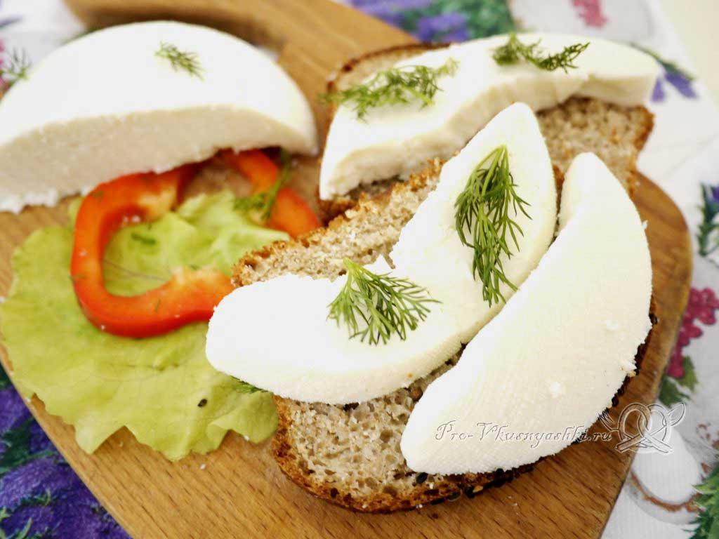 Сыр из молока и сыворотки в домашних условиях - подача