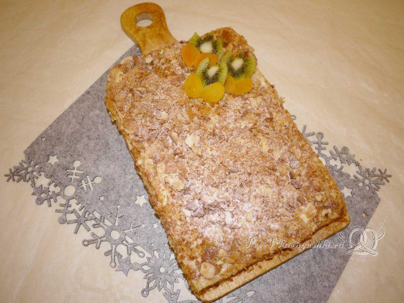 Торт Наполеон классический с заварным кремом - украшаем торт