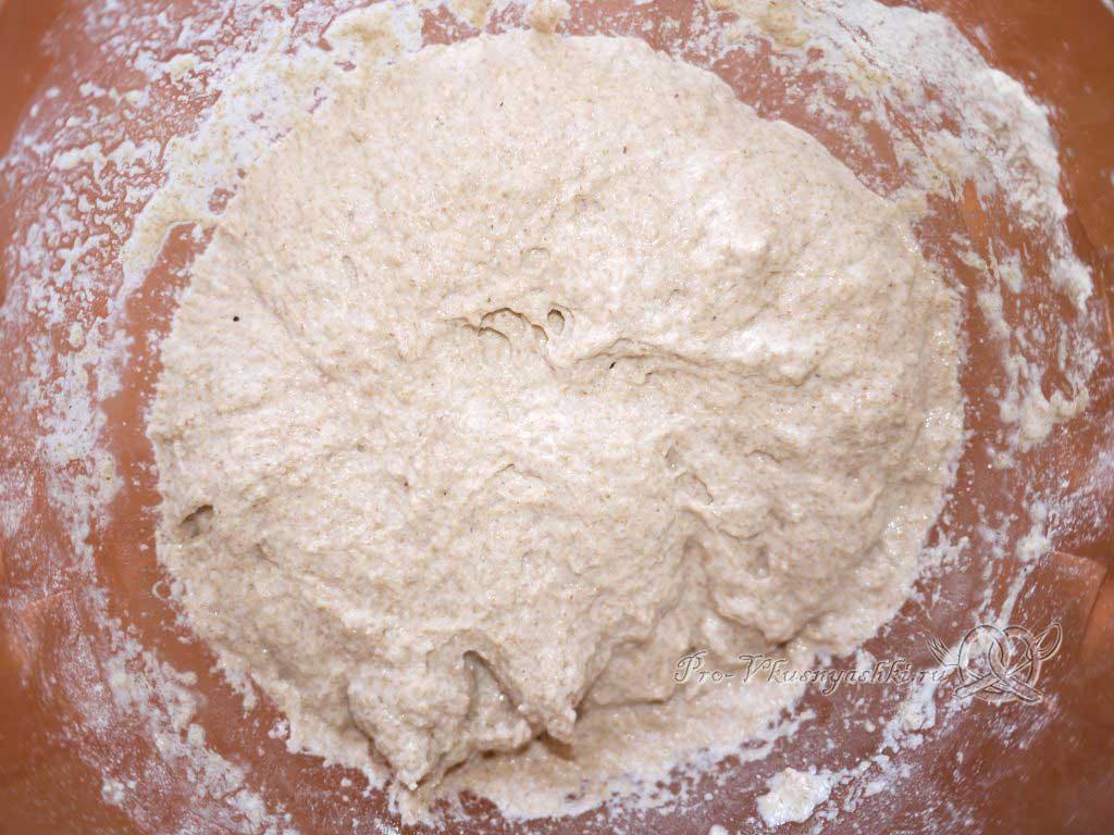 Постный цельнозерновой хлеб - опара