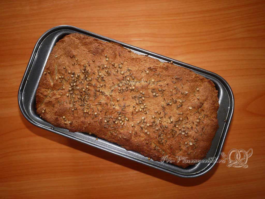 Постный цельнозерновой хлеб - вынимаем из формы