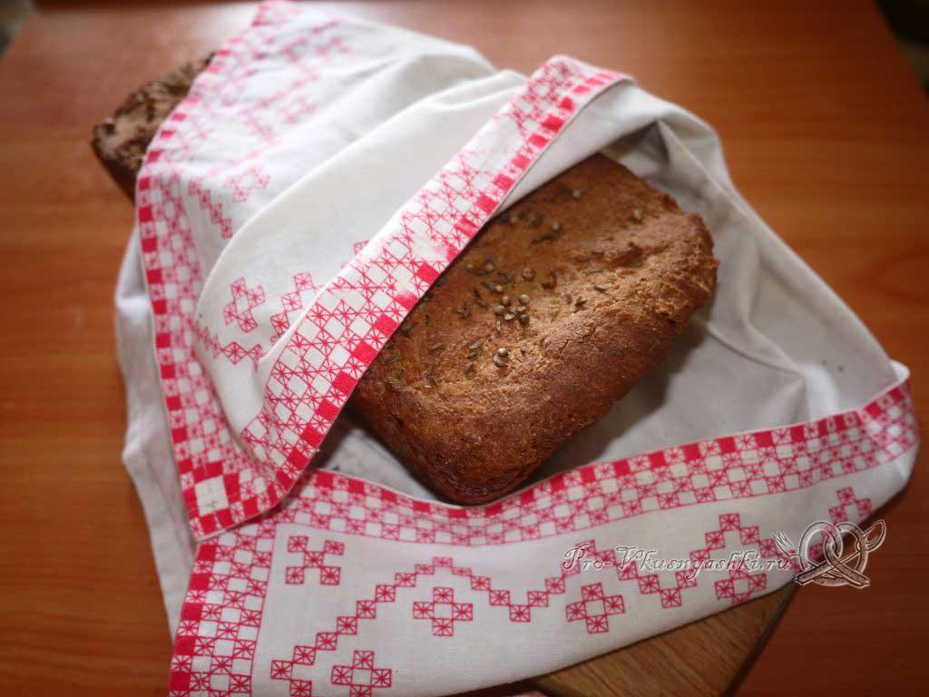 Постный цельнозерновой хлеб - остужаем