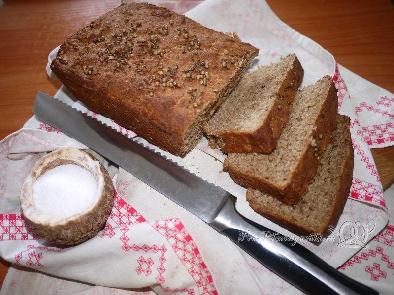 Постный цельнозерновой хлеб - нарезаем