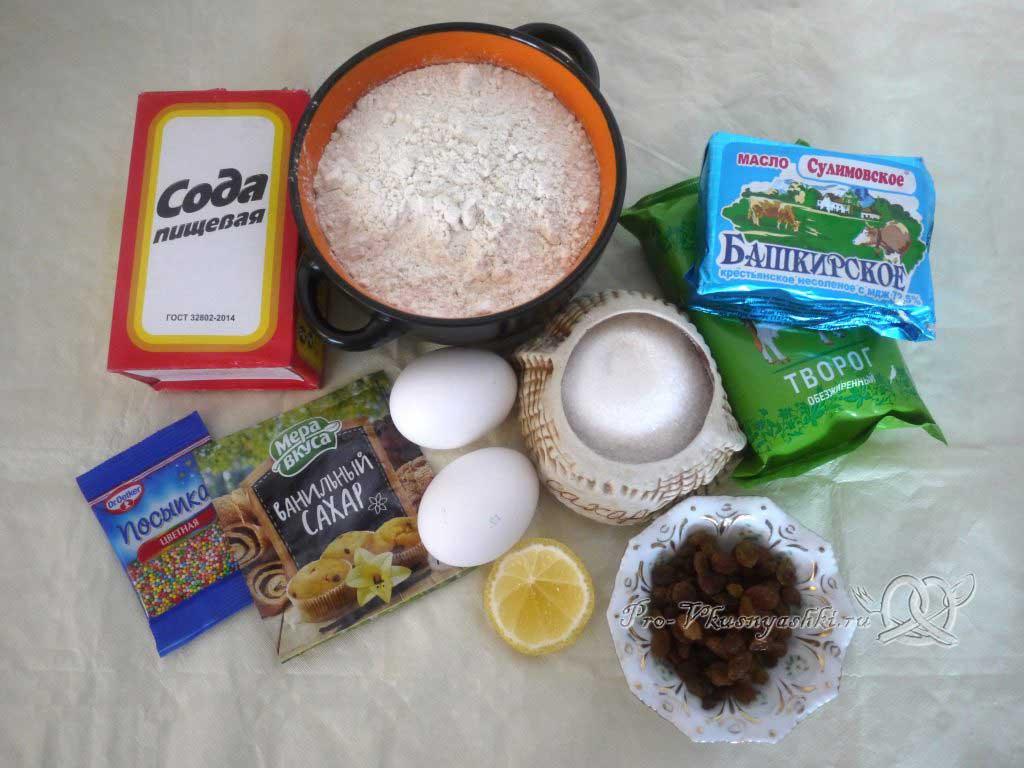 Творожный кулич на соде - ингредиенты
