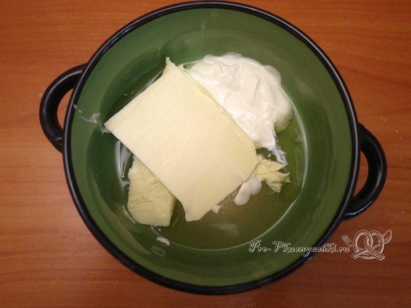 Кулич из заварного теста - соединяем белки, масло и сметану