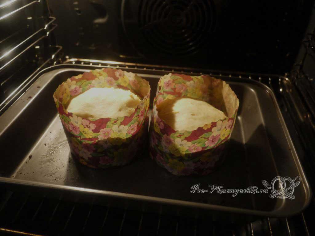 Пасхальный кулич на опаре с корицей - ставим в духовку