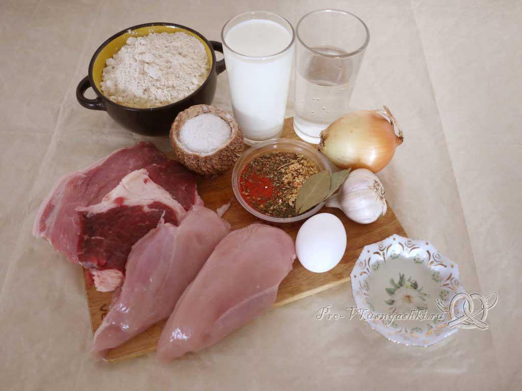 Вкусные домашние пельмени - ингредиенты