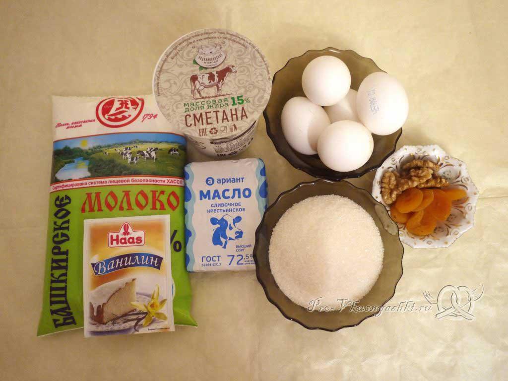 Королевская Пасха из молока - ингредиенты