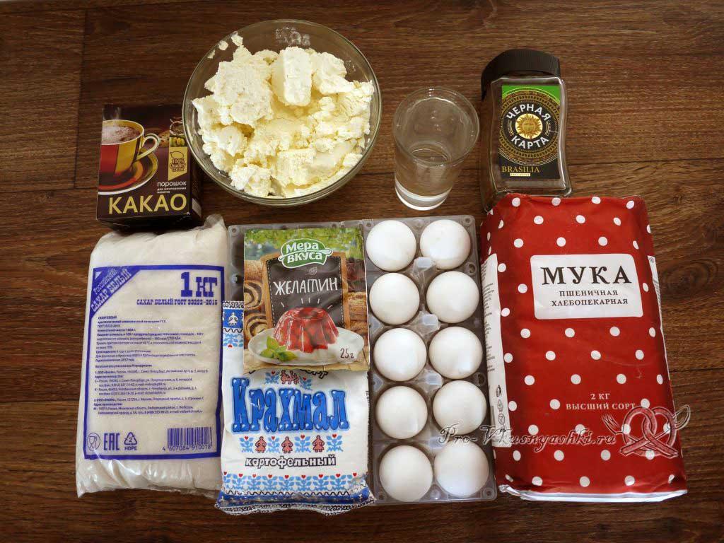 Торт Тирамису в домашних условиях - ингредиенты