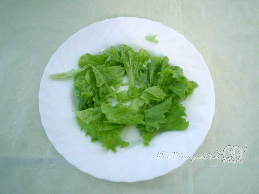 Греческий салат в домашних условиях - листья салата