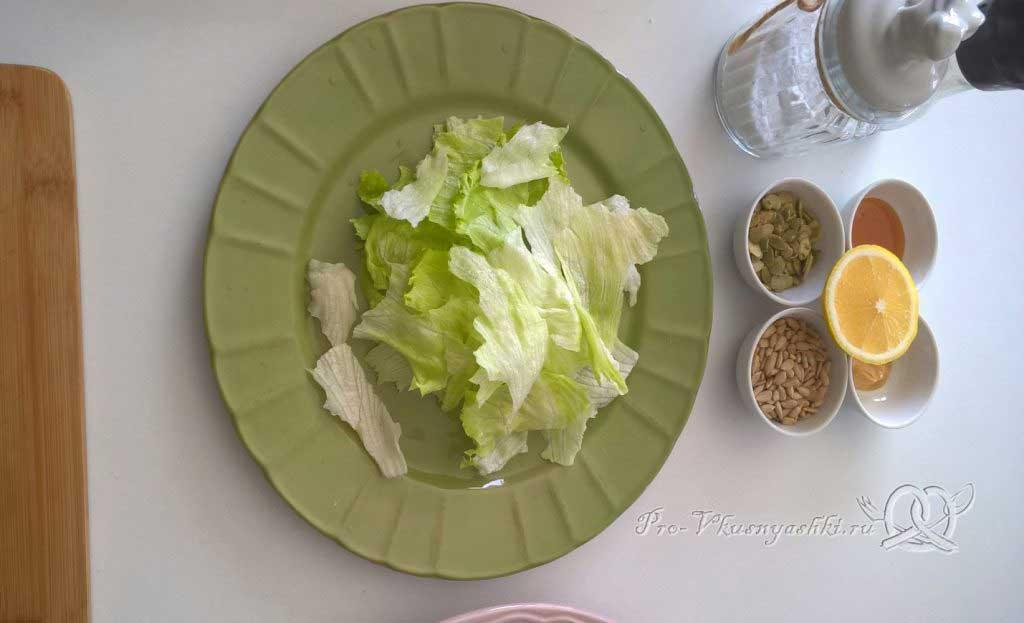 Легкий салат с медово-горчичной заправкой - рвем айсберг