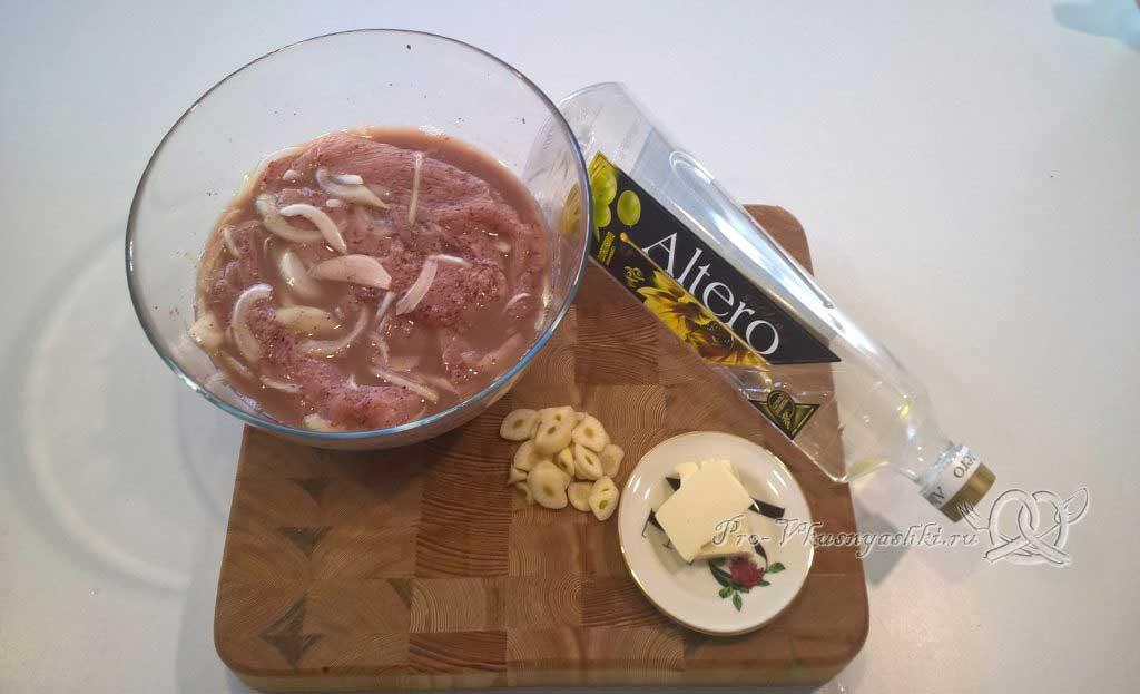 Стейк из индейки в гранатовом соке - стейк из холодильника