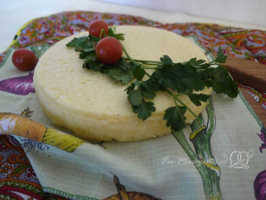 Домашний твердый сыр - сыр готов