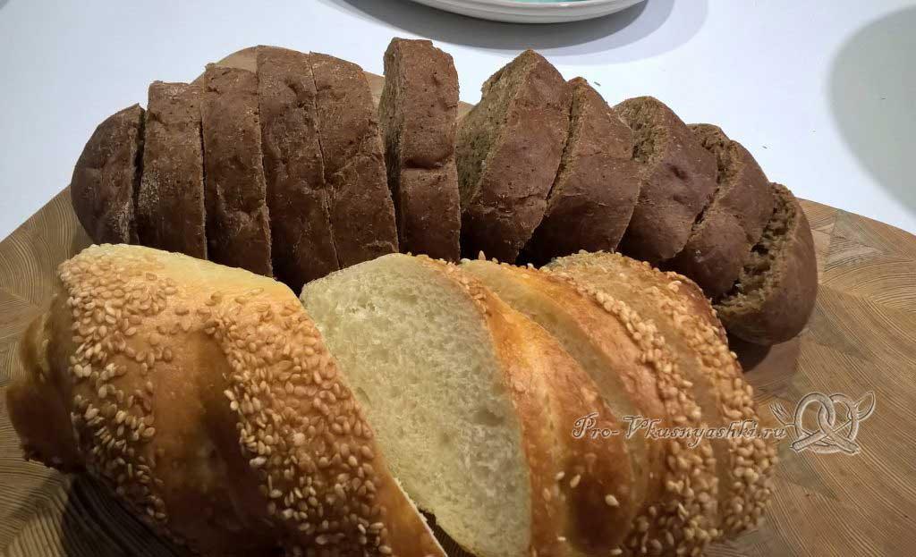 Закуска из печени трески - режем хлеб