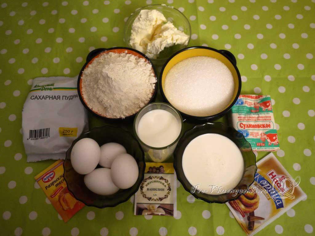 Капкейки с кремом чиз на сливках - ингредиенты