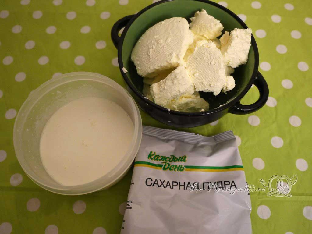 Капкейки с кремом чиз на сливках - ингредиенты крема
