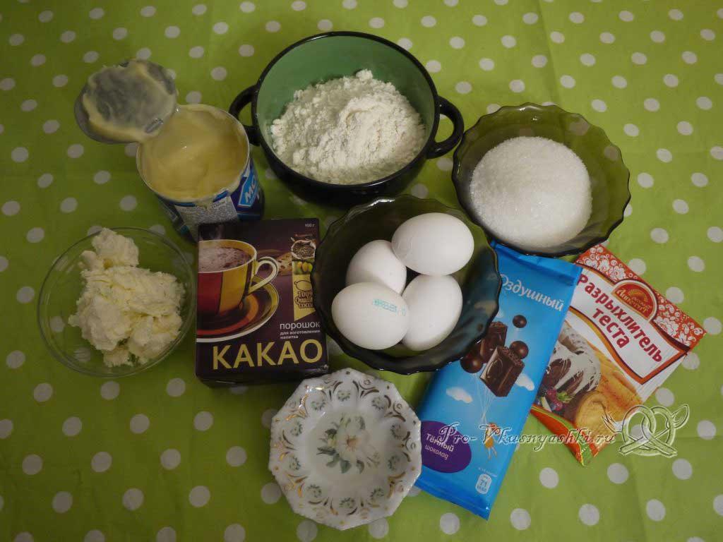 Кейк попсы со сгущенкой (картошка в шоколаде) - ингредиенты