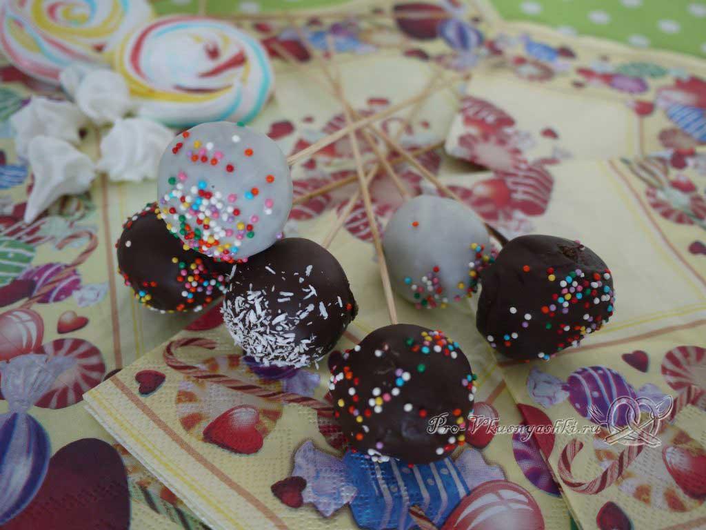 Кейк попсы со сгущенкой (картошка в шоколаде) - подача