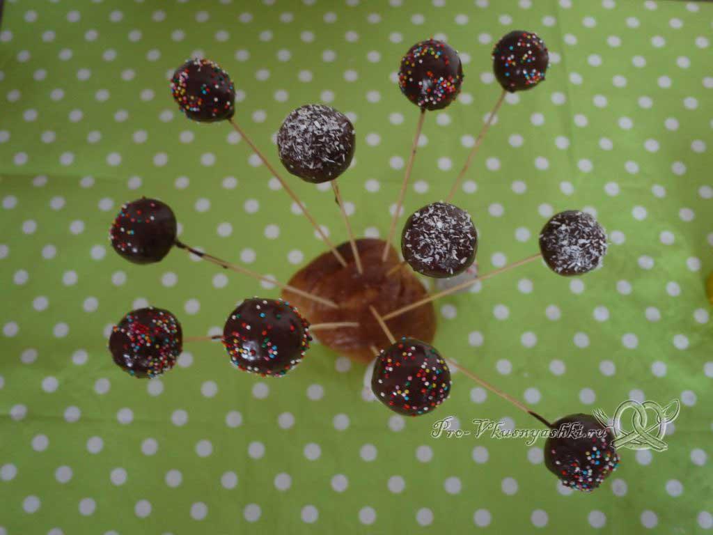 Кейк попсы со сгущенкой (картошка в шоколаде) - сушим кейк попсы