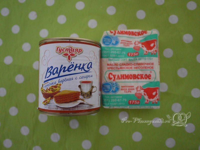 Вафельные трубочки со сгущенкой - масло и сгущенка