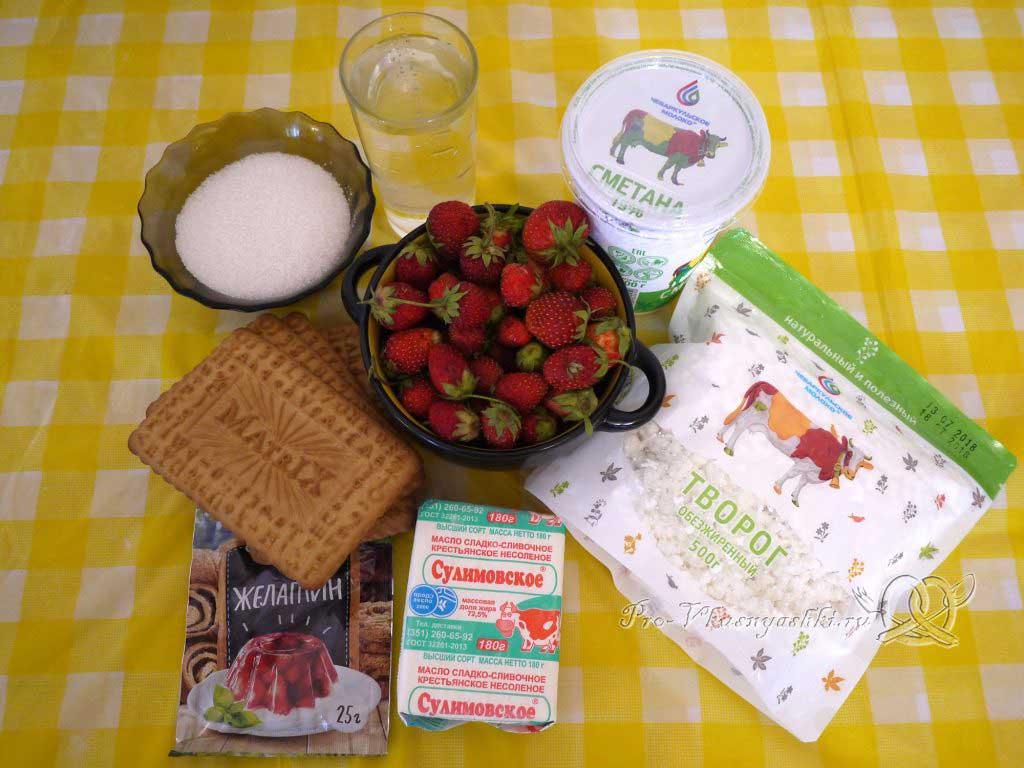 Творожный чизкейк без выпечки «Розовая зебра» - ингредиенты