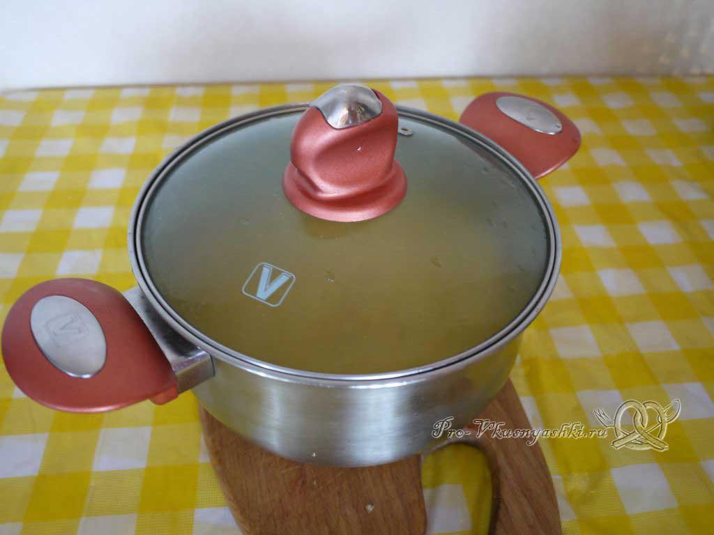 Овощной суп пюре с гренками - настаиваем