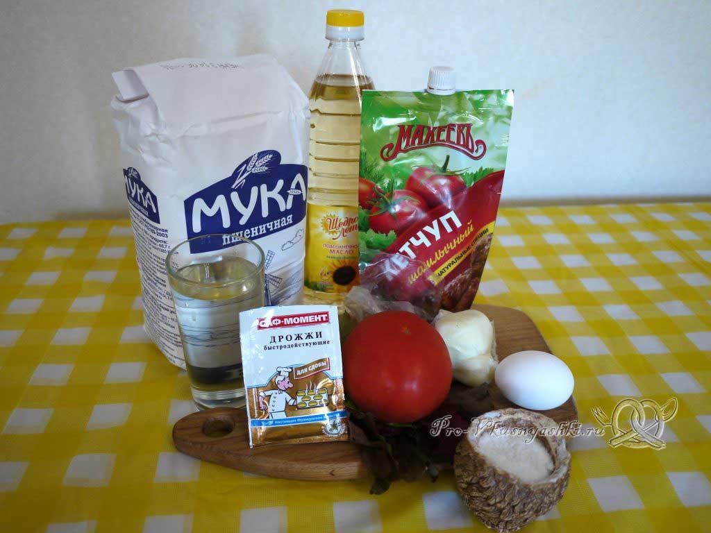 Пицца Маргарита в духовке - ингредиенты