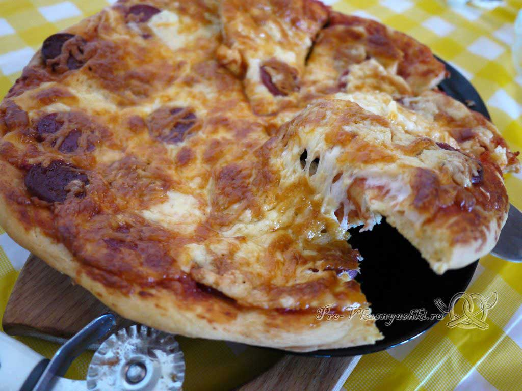 Пицца Пепперони - нарезаем пиццу